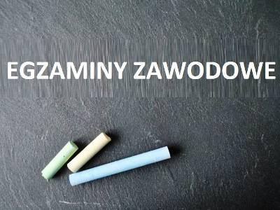EGZAMINY ZAWODOWE !!!